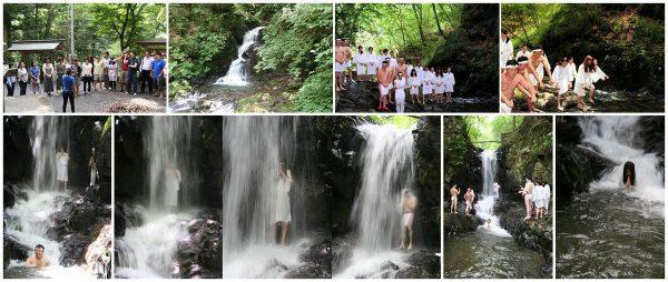 九頭龍の滝での滝行です