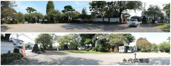 円泉寺の広い駐車場です