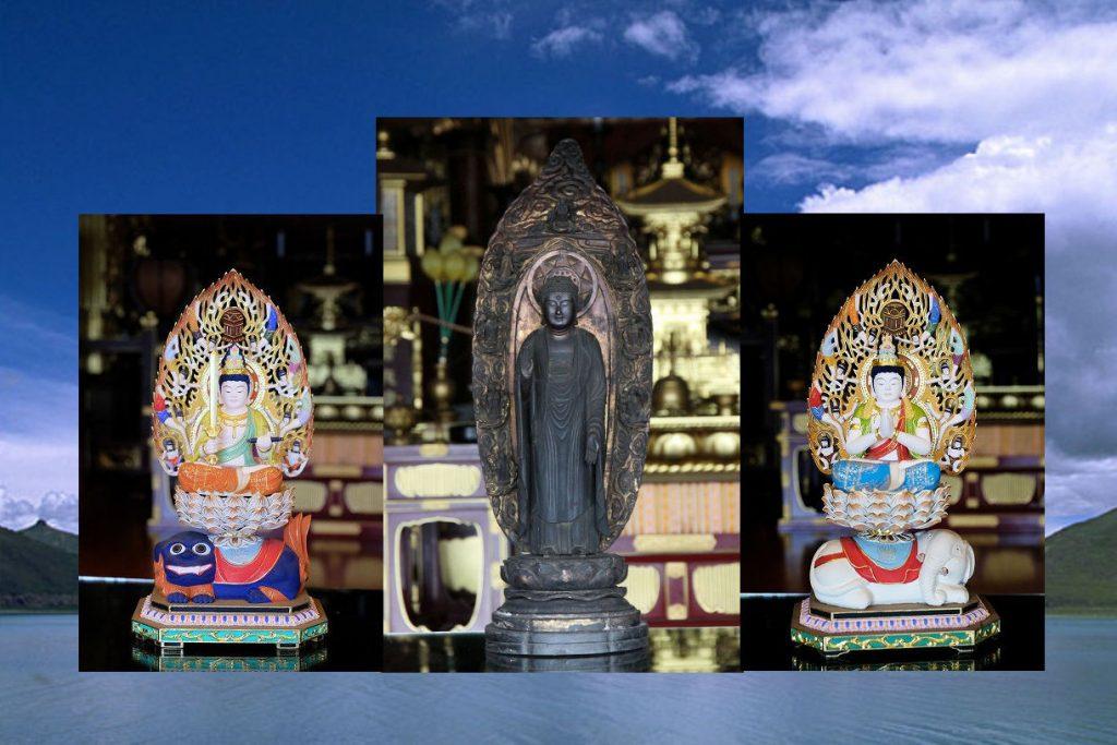 円泉寺 釈迦三尊像